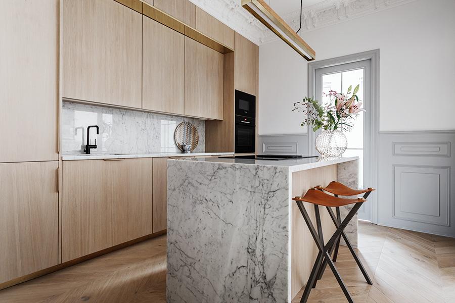Bänkskivor av marmor